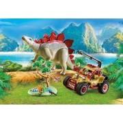 Playmobil Vehículo Explorador con Estegosaurio