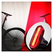 Aqy-096 IPX4 USB Desmontable Recargable De Doble Color LED Bicicleta Luz Trasera (blanco Y Rojo)