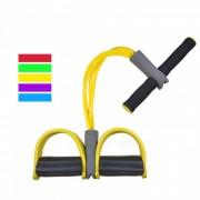 P-TOP 4-Tube Yoga Fitness Bandas de resistencia? Sit Up Pull Ropes con Ejercitador de pedal de latex para Hombres Mujeres-Amarillo