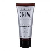 American Crew Beard 2-IN-1 Skin Moisturizer & Beard Conditioner olio da barba 100 ml uomo