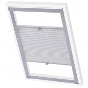 vidaXL Pleated Blinds White C02
