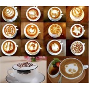 Set 16 sabloane decorative pentru cafea, cappuccino sau prajituri