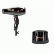 PARLUX PHON 385 POWER LIGHT IONIC & CERAMIC NERO + PARLUX SILENZIATORE