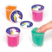 Unicorn Slime Pots - 8 Pots Ready Made Slime In 4 Colours. Farting Noise Putty. Slime For Party Bags. Size 3cm.