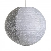 Ronde hanglamp Sidy stippenmotief