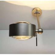 Top Light Puk Maxx Wing Single Wandleuchte chrommatt Linse klar / Linse klar 20cm LED