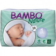 BAMBO NATURE Newborn 1 - de 2 à 4 kg - 28 langes