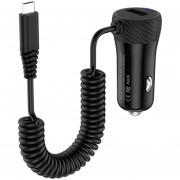 HoCo Z21A 3.4a único Puerto Micro USB Wired Fast Car Charger, Galaxy, Nokia, HTC, LG, Huawei, Xiaomi Y Otros Smartphones (negro)