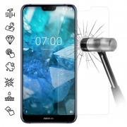 Protetor Ecrã em Vidro Temperado para Nokia 7.1 - Transparente