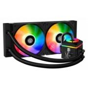"COOLER CPU LICHID DEEPCOOL, universal., soc LGA20xx/1366/115x & AMx/FMx, AL+Cu+lichid, 2x 140 RGB fans, 150W, ""CASTLE 280 RGB"""