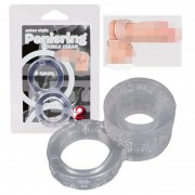 You2Toys Double Cock Ring Transparent 0510440