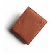 Bullzeye Leathers Men Tan Genuine Leather Wallet(4 Card Slots)