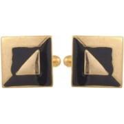 Tripin Brass Cufflink(Gold, Black)