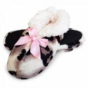 Papuci de Casa Imblaniti, Animal Print Snow Leopard
