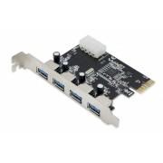 Placa PCI-Express 1.0 adaptor la 4 x USB 3.0 Active pci-e