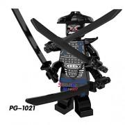 Generic 50pcs Ninja Masters of Spinjitzu Movie Kai Jay Cole Zane Lloyd Wu NYA Ronin GARMADON Building Block Bricks for kit Children Toys pg1021
