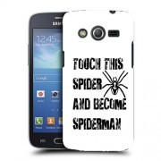 Husa Samsung Galaxy Core 4G LTE G386F Silicon Gel Tpu Model Spider Touch B&W