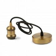 LED lámpa függeszték , E27 , bronzbarna , vintage