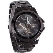 FancyLook Rosara Round Dial Black Metal Strap Quartz Watch For Men 6 month warranty