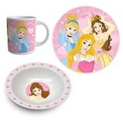 Set mic dejun 3 piese ceramica Printesele Disney