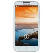 "Telefon Mobil Lenovo A560, Procesor Quad-Core 1.2GHz, IPS Capacitive touchscreen 5"", 512MB RAM, 1GB Flash, 2MP, Wi-Fi, 3G, Dual Sim, Android (Alb) + Cartela SIM Orange PrePay, 6 euro credit, 4 GB internet 4G, 2,000 minute nationale si internationale fix s"