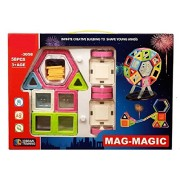 Sanyal 58 PCS Mag Magical Magnetic Building Blocks 3D Magic Play Stacking Set for Brain Development, Educational Learning Toy Set (Multicolour)