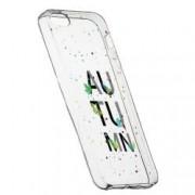 Husa Silicon Transparent Slim Toamna 145 Apple iPhone 5 5S SE