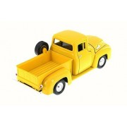 1955 Ford F-100 Pick Up truck, Yellow - Motormax 79341/16D - 1/24 Scale Diecast Model Toy Car