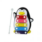 HATCHMATIC EducationalToys Hot Sale Baby Kid 5-Note Musical Toys Wisdom Development Penguin Shape intelligece Free Shipping AP22: Black