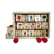 Wooden Multi-Learning Truck Abacus with Alphabets and Abacus by Sihi Creation