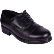 IMCOLUS Black Lace-up Formal Leather Air Mix Shoes