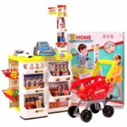 Set de joaca supermarket cu carucior MalPlay 24 piese casa de marcat accesorii sunete si lumini