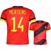 Merkloos / Sans marque Het Belgisch Voetbalelftal Dries Mertens 14 De Rode Duivels België Replica Voetbal T-shirt Rood N.v.t. Unisex T-shirt Maat 2XL