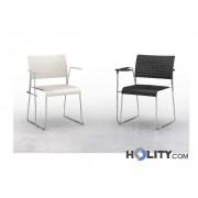 Sedia Per Sala Meeting Con Ribaltina H17725