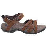 Teva Women`s Tirra Leather Sandali da trekking (8, marrone)