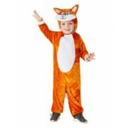 Costum de carnaval de pisicuta portocaliu pentru copii 1-2 ani