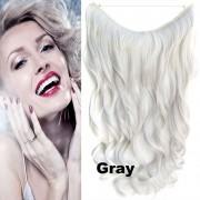 Flip in vlasy - vlnitý pás vlasů - odstín Gray - Světové Zboží