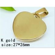Медальон Сърце изработен от медицинска стомана 316L (DCP22105)
