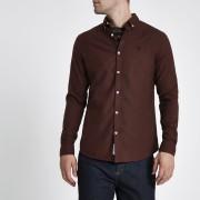 River Island Mens Dark Red long sleeve flannel shirt (S)