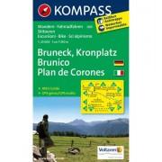 Kompass Carta N. 045 Plan de Corones, Brunico - 1:25.000