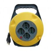 Prolunga elettrica con avvolgicavo 10m con pulsante di protezione