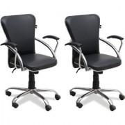 Fabsy Interior - Medium Back Premium Office Chair In Black By Fabsy Interiors (Buy 1 Get 1 Free)