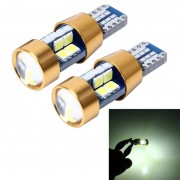 2 stk T10 3W auto foutvrij Clearance licht met 19 SMD-3030 LED Lamp DC 12V (wit licht)