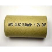 Acumulator industrial BYD subC Ni-Cd, 1.2V, 1300mAh D-SC 1300mAh