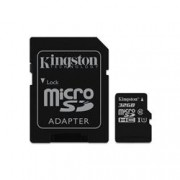 KINGSTON 64GB CANVAS MICRO SDXC 80R CL10 UHS-I + SD ADAP.