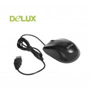 EY Delux profesional M131 USB Ratón óptico con cable ratones universal ergonómicos-Negro