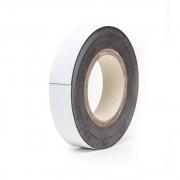 Magnet-Lagerschilder weiß, Rollenware Höhe 25 mm, Rollenlänge 10 m