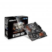 Tarjeta Madre ASRock B150M-HDV 2xDDR4 PCIE USB3 HDMI Socket 1151-Negro