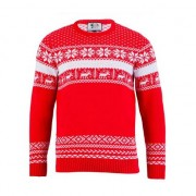 Geen Foute print heren truien The Red Nordic