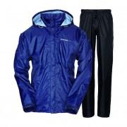 Didriksons Tigris Print Design Unisex Rainwear / Anoraks Set Top & Bottom Navy Quad 548177